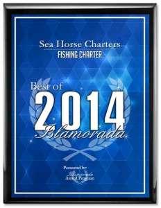 SEA HORSE CHARTERS Receives 2014 Best of Islamorada Award