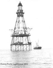 Fowey Rocks Lighthouse 1892