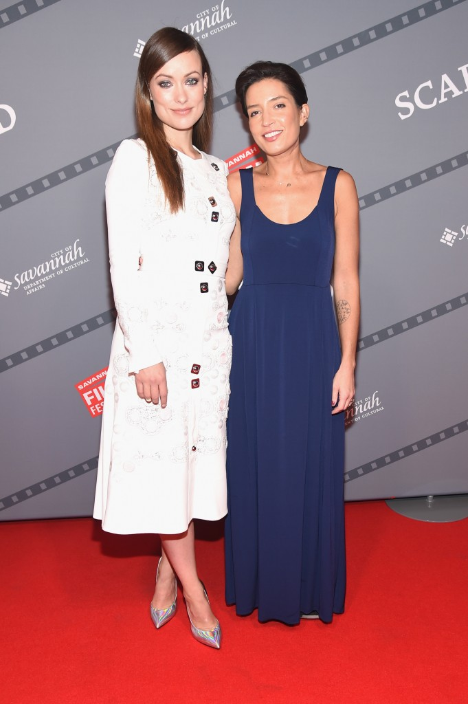 """SAVANNAH, GA - OCTOBER 24: (L-R) Honoree Olivia Wilde and Cinematographer Reed Morano attend the opening night screening of """"Suffragette"""" during 18th Annual Savannah Film Festival Presented by SCAD at Trustees Theater on October 24, 2015 in Savannah, Georgia. (Photo by Michael Loccisano/Getty Images for SCAD)"""