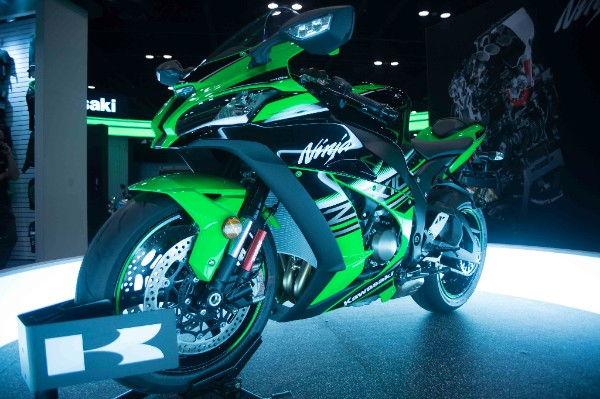 Kawasaki Ninja ZX-10R makes its North American debut at AIMExpo 2015. Photo: J. Willie David III/Florida National News