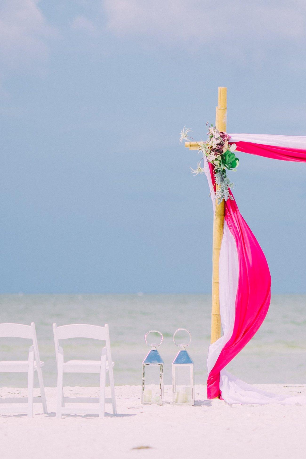 affordable-wedding-decoration-florida-4 Hot Rose Theme Wedding Arbor