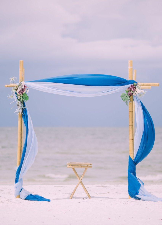 cheap-beach-wedding-fort-lauderdale-6 Deep Blue Wedding Arbor