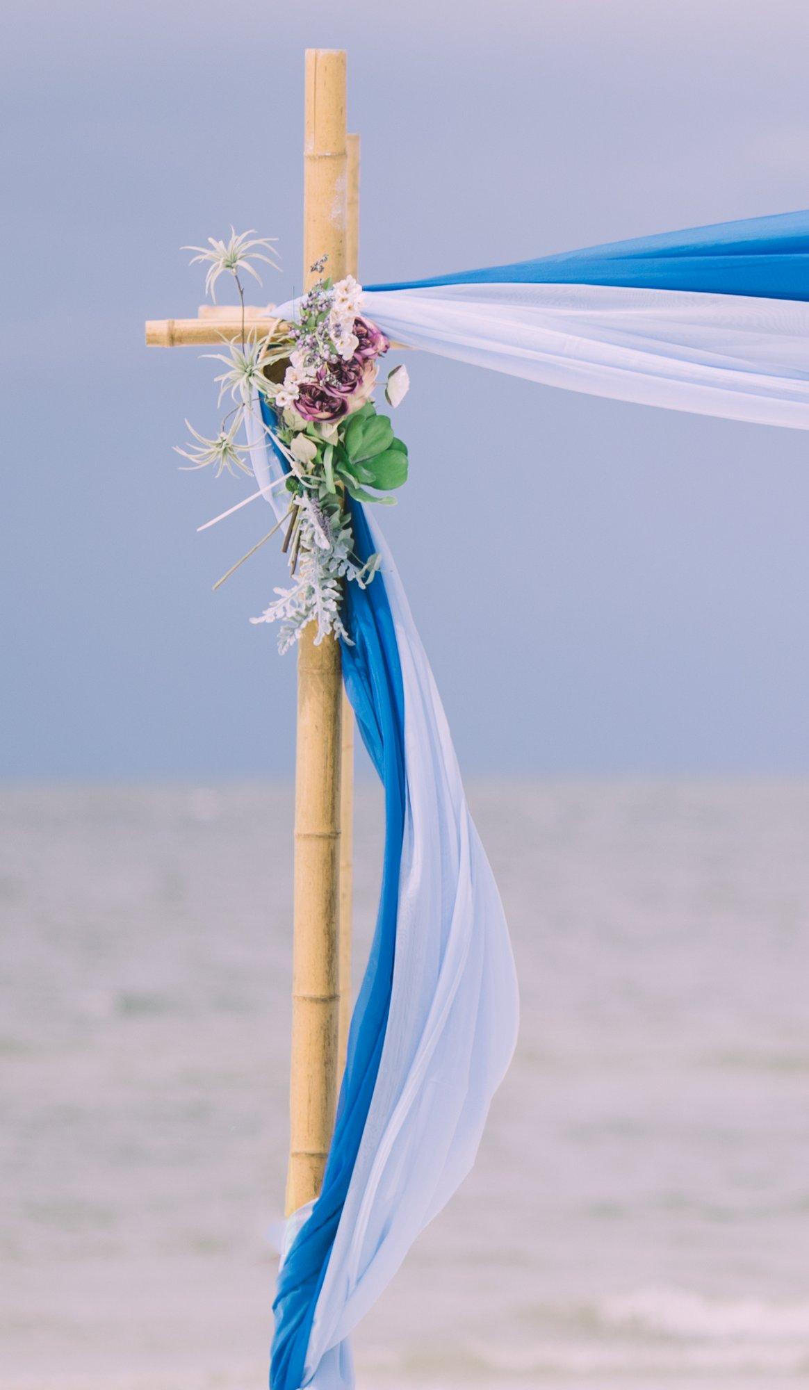 cheap-beach-wedding-fort-lauderdale-8 Deep Blue Wedding Arbor