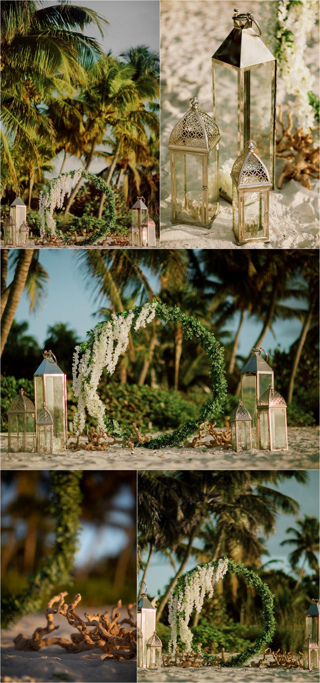 circular-wedding-decoration-beach-ring Circular Beach Wedding Decoration