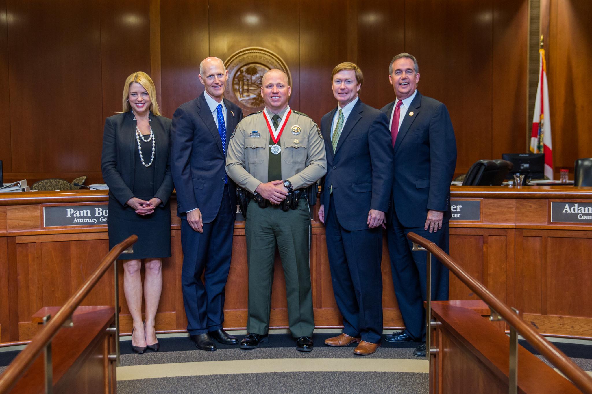Scott U0026 The Florida Cabinet Recognized Jason Hutchinson For His Heroism.