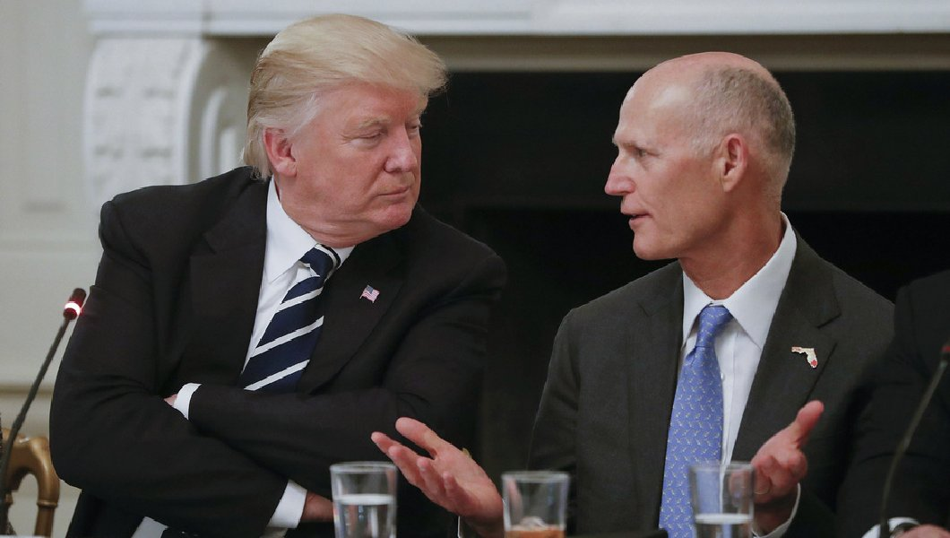 Image result for photos gov scott with zinke