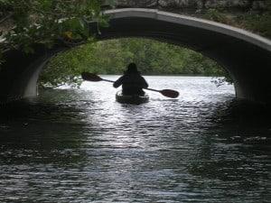 Oleta River paddler