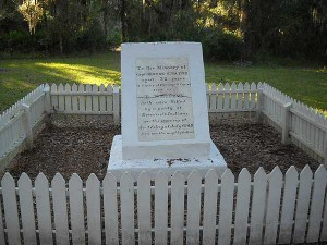 Historic monument at Paynes Creek Historic State Park