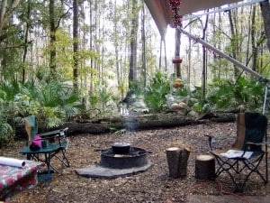Campsite at Hillsborough River State Park near Tampa