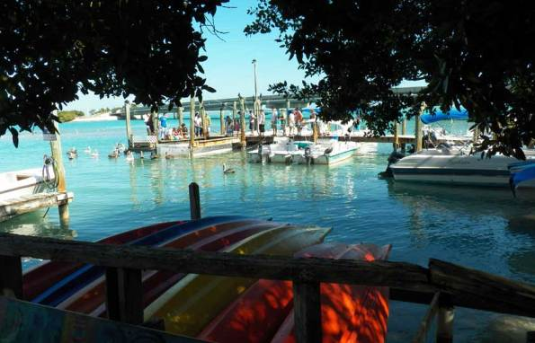 The dock at Robbie's Marina in the Florida Keys