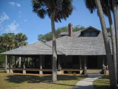 Exterior of lodge at Princess Place Preserve, Palm Coast, Florida