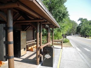Shuttle bus is free at Fort Wilderness