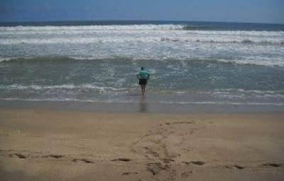 Secret beach: Hobe Sound NWR swimmer