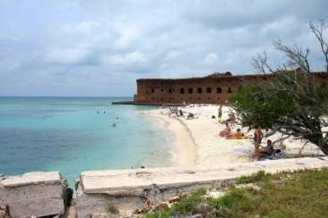 Beach at Fort Jefferson
