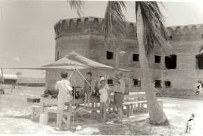 Camping at Fort Jefferson