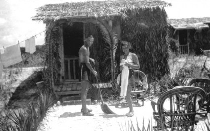 Honeymoon Island, Dunedin, historic image of honeymoon cottage