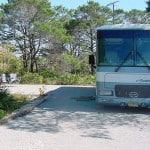 RV campsite at Florida's Henderson Beach State Park.