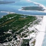 Aerial view of Florida's St. Andrews State Park.