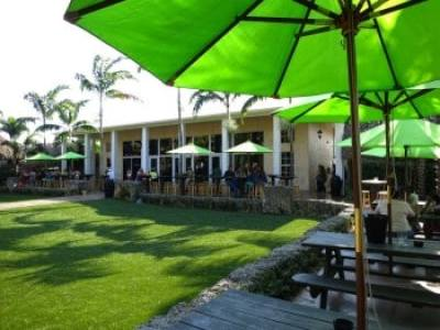 Schnebly Redland's Winery & Brewery has an inviting outdoor area for trying the wines and beers.