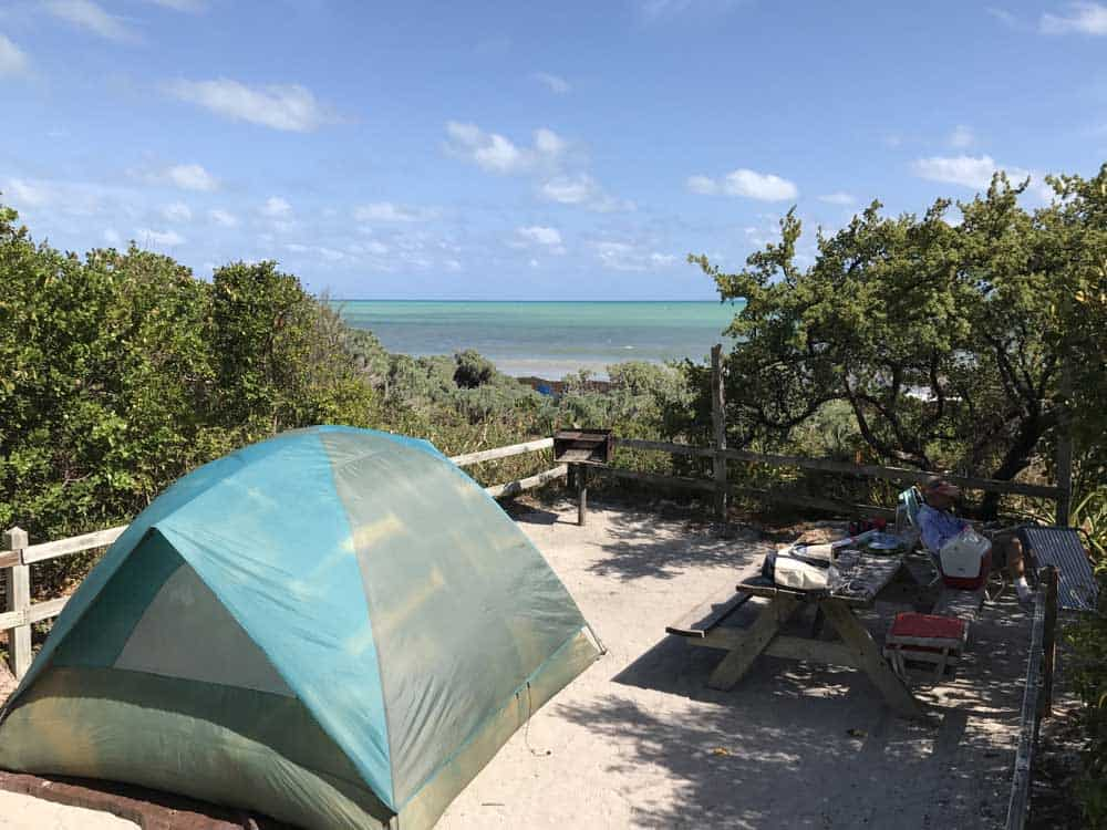 Oceanside Camping At Bahia Honda Is Highly Sought After. This Is Campsite  #64, Limited To Tents And Popup Trailers. Note: The Sandspur Campground  Closed ...
