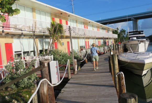 All the rooms at Gilbert's face onto the docks and waterway. (Photo: David Blasco)
