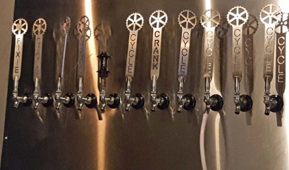 The taps at Cycle Brewing in St Petersburg