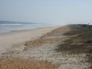 Orange sand beach at North Peninsula State Park