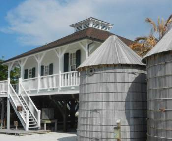 The hisstoric lighthouse at the tip of Boca Grande, a Gulf Coast Florida island,