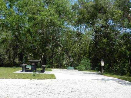 Campsite at Mitchell's Landing along Loop Road