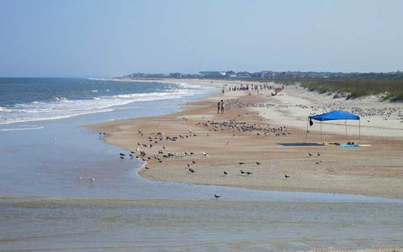 The beach at Amelia Island's Fort Clinch State Park is so broad and hard-packed, you can bike on it.