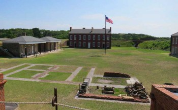 The grounds at Fort Clinch on Amelia Island.