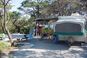 Campsite at Henderson Beach State Park