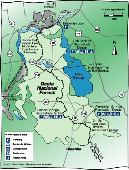 ocala nationa forest map