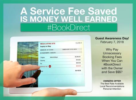 #bookdirect, awareness, campaign, fees