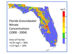 Elevated Nitrate Nitrogen Levels Found in Florida's Drinking Water Supply