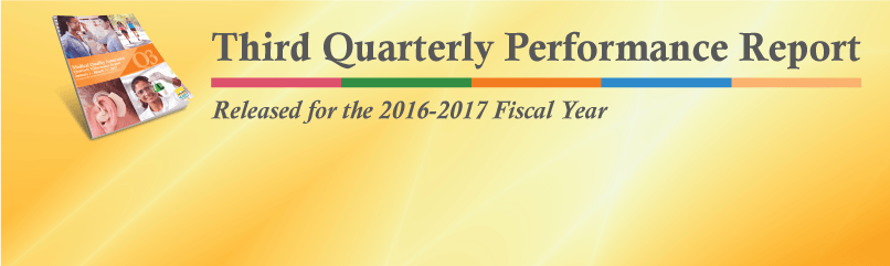 Third Quarterly Performance Report Qpr Released