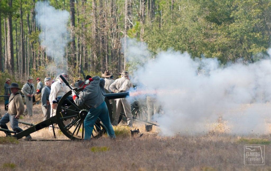 Civil War Canon Fire