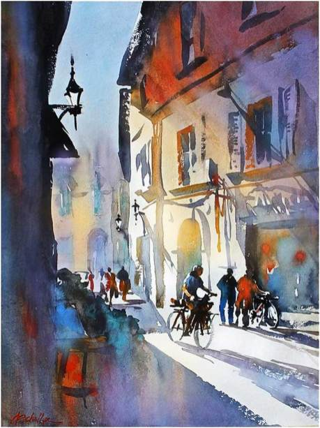 Tom Schaller Painting Cycling