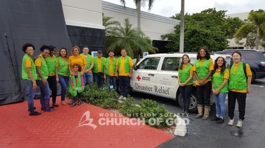 world mission society church of god, church of god, wmscog, church of god in volunteer, disaster relief, yellow shirts, volunteers, hurricane matthew