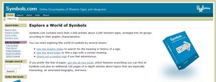 Pagina principală a site-ului Symbols (link la sfârşitul postării).