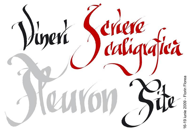Caligrafie vectorială în Inkscape. Florin Florea