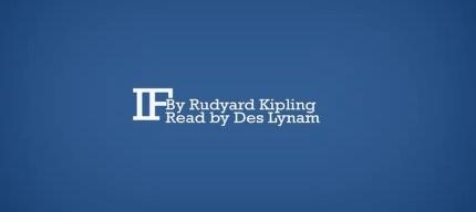 Dacă de Rudyard Kipling, lucrare tipografică animată de George O. Horne