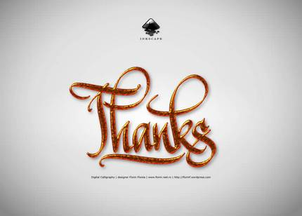 Thanks - caligrafie digitala - Florin Florea