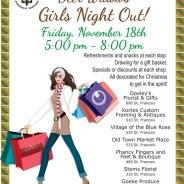 Deer Widows Girls Night Out – Nov. 18