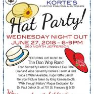 Wednesday Night Out Hat Party on June 27