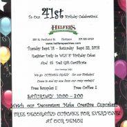 Helfer's 41st Birthday Celebration – Sept. 18