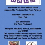 Old Town Parking Lot Sale – Sep. 22