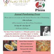 Amore Pizza Fundraiser for Kwesi Prince Foundation Sept 28-30