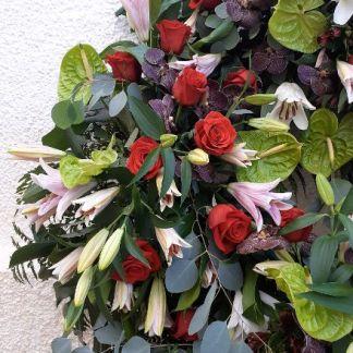 Corona funeral 4 cabezales.