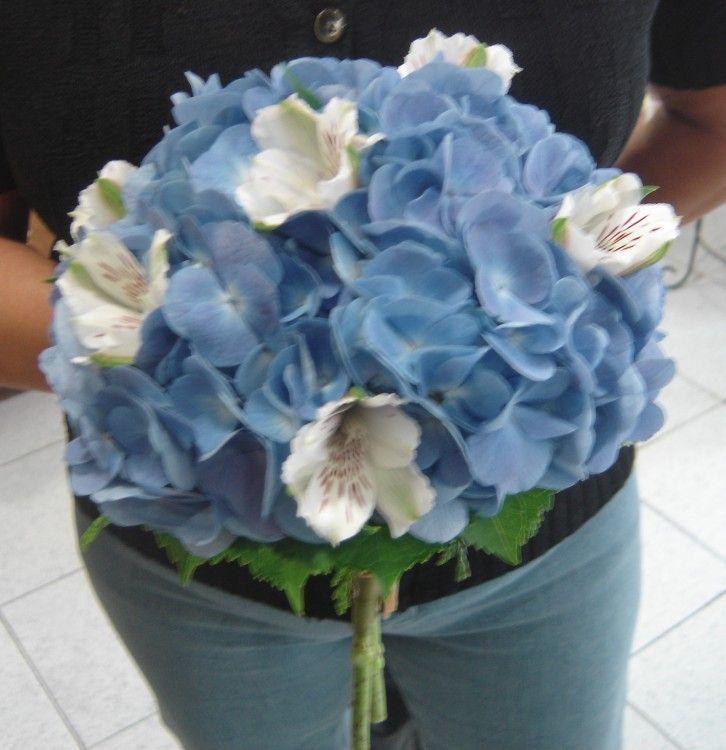 Ramos de novia de hortensias